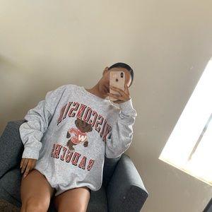 Wisconsin badgers vintage sweatshirt